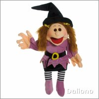 Living Puppets hand puppet Waltrudis the witch